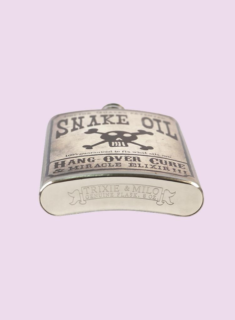 Trixie & Milo Snake Oil Flask
