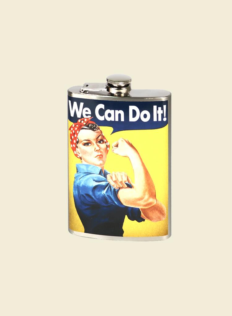 Trixie & Milo We Can Do It! Flask