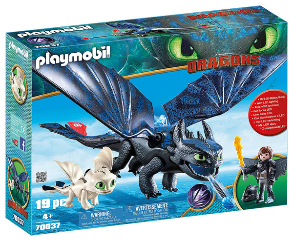 Dreamworks Hiccup and Toothless with Baby Dragon