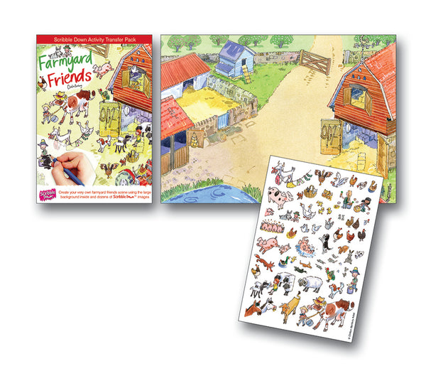 Scribble Down Transfer Activity Pack - Farmyard Friends