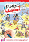 Scribble Down Transfer Activity Pack - Pirate Adventure