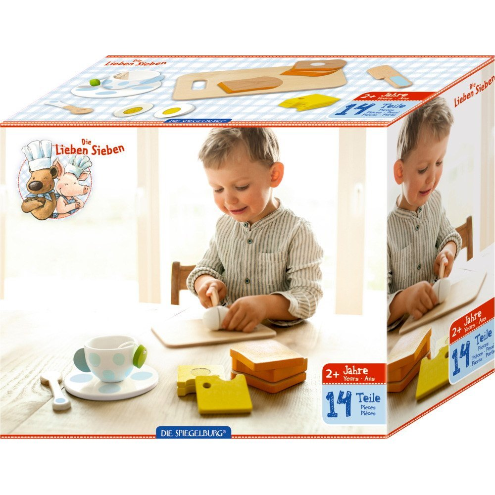 Wooden Breakfast Cutting set - The Friendly Seven