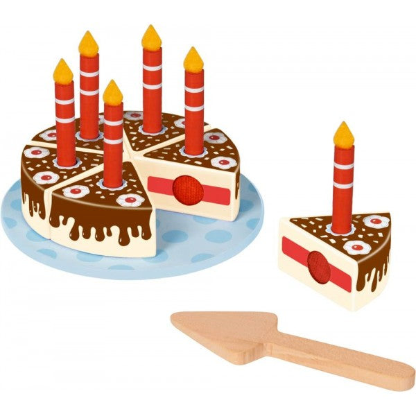 Wooden Cutting Birthday Cake - The Friendly Seven