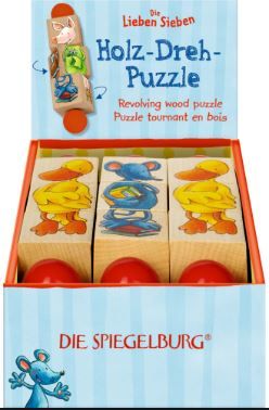 Revolving Wooden Puzzle - The Friendly Seven Animals