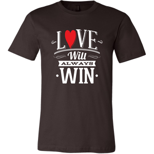 Mens T-SHIRT Love always win