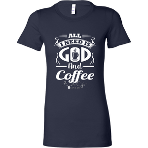 GOD & COFFEE WOMEN TSHIRT