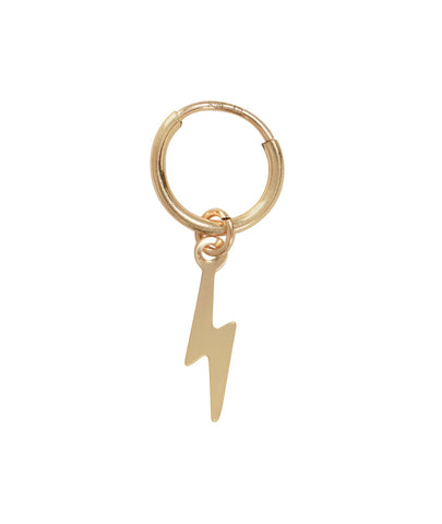 Lightening Bolt Huggie Earring