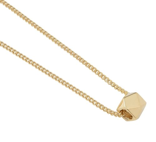 14K Gold Geometric Charm Necklace