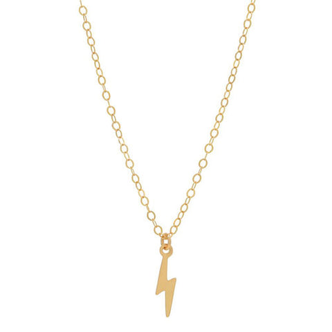 14k Gold Lightening Bolt Necklace