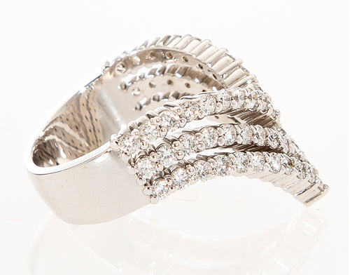 Be Bold Diamond V Ring