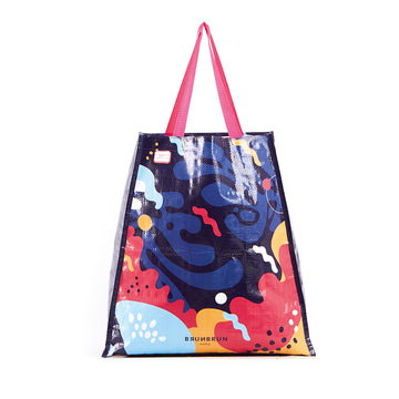 BRUNBRUN PARIS ECO BAG BLUE