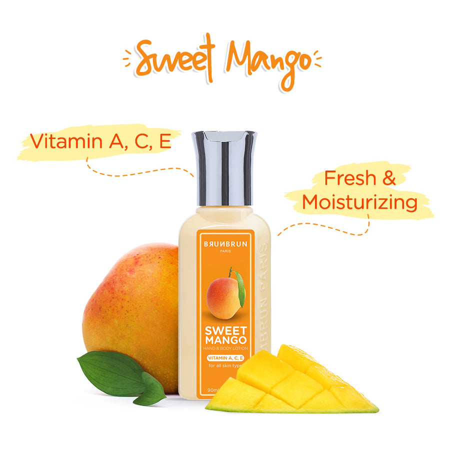 Sweet Mango Hand & Body Lotion Vit A C E (90 Ml)