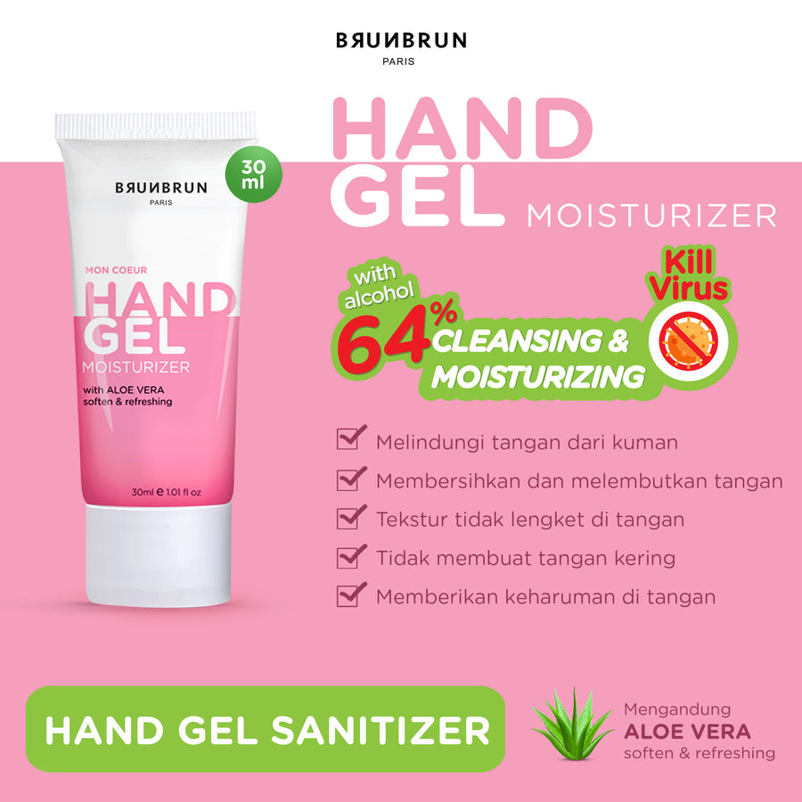 BRUNBRUN PARIS HAND GEL SANITIZER & MOISTURIZER 30 ML