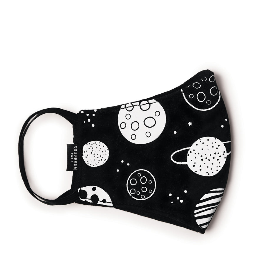 BRUNBRUN Paris Kids Planet Cotton Mask
