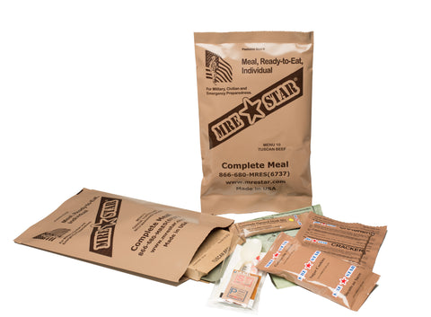 Complete package MRE opened