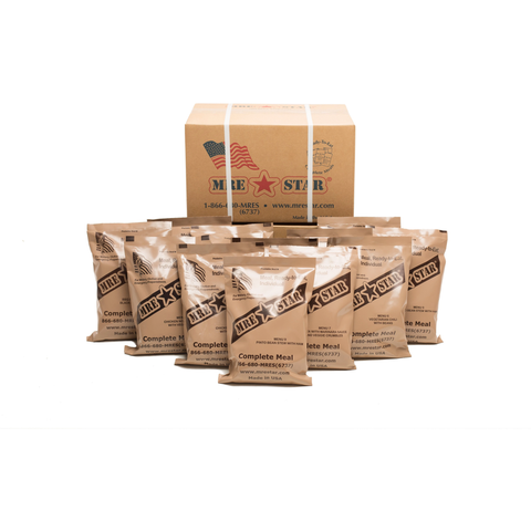 10xMREStar MRE Meals Ready to Eat Case of 12 Single | MySurvivalPrep.com
