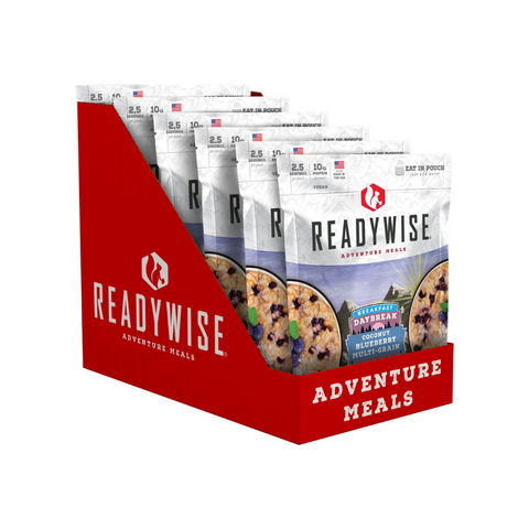 ReadyWise 2x6pack CT Case Daybreak Coconut Blueberry Multi-grain