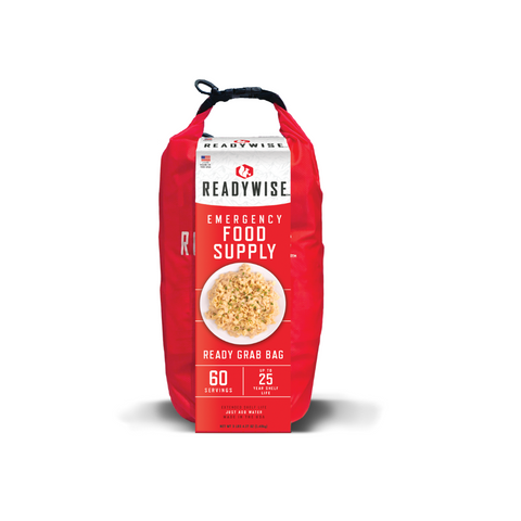 ReadyWise 7 Day Emergency Dry Bag 60 Servings Breakfast and Entrée Grab and Go