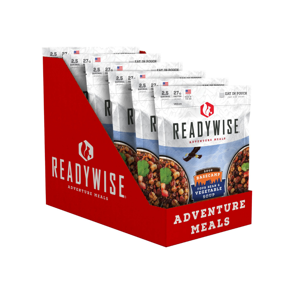 ReadyWise 2x6pack CT Case Basecamp Four Bean & Vegetable Soup