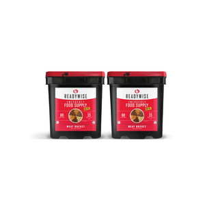 ReadyWise 120 Serving Meat Package Includes: 2 Freeze Dried Meat Buckets