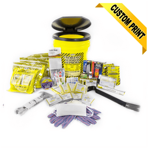 MayDay, Mayday Deluxe Emergency Honey Bucket Kits 4 Person Kit, [product_sku], MySurvivalPrep.com