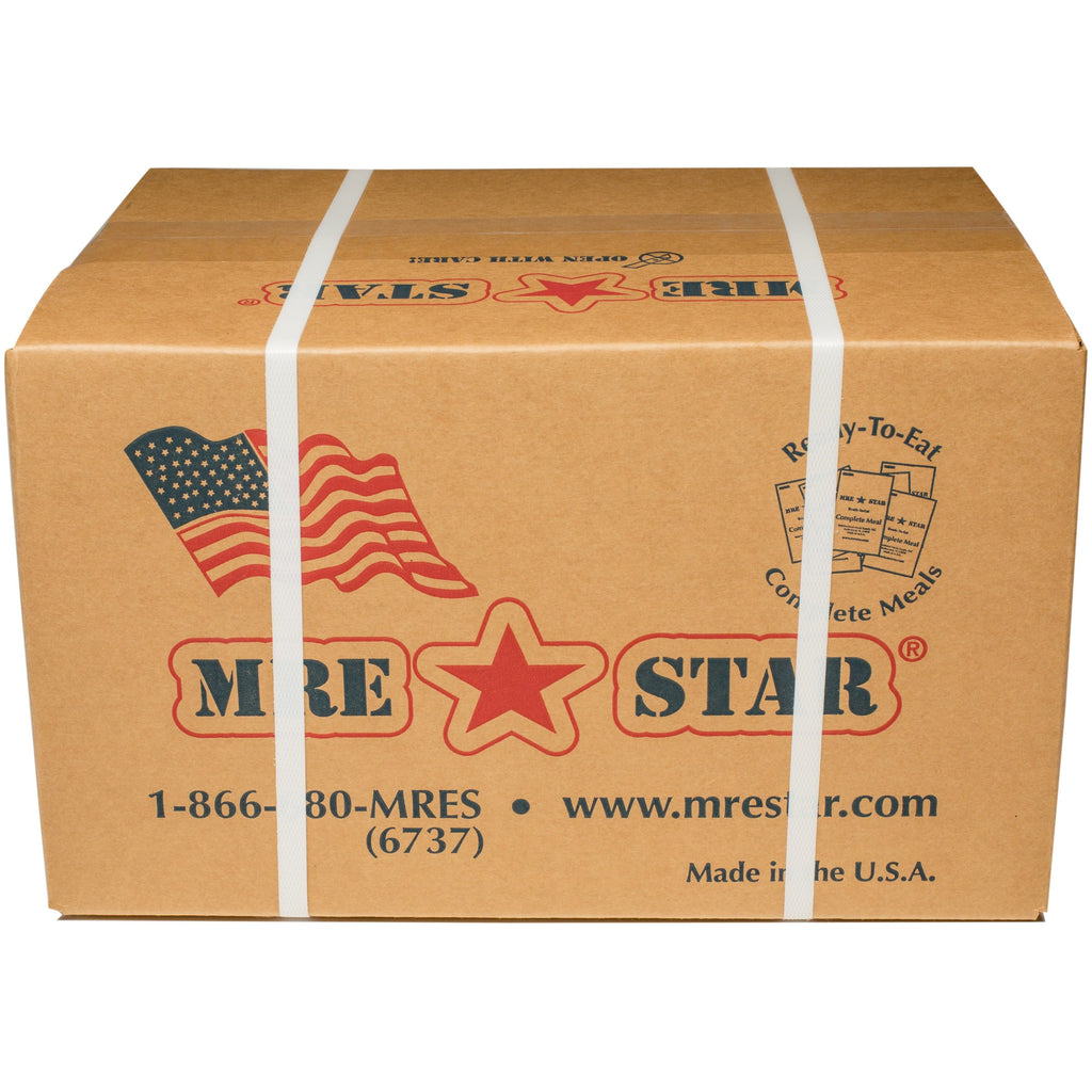 MRE STAR, MRE STAR MRE Meal Ready to Eat Full Case 12 (with Heaters) M-018H best for 2020, [product_sku], MySurvivalPrep - MySurvivalPrep