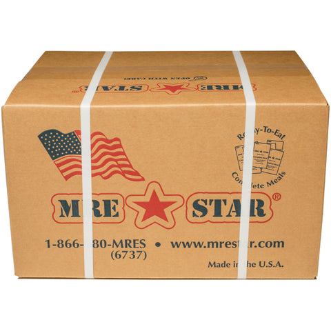 MRE STAR, 36 x MRE Star Case of 12 Single Complete MRE Meals - Standard Variety without Heaters M-018 +FREE 2 x Survival Backpack + FREE Delivery, [product_sku], MySurvivalPrep - MySurvivalPrep