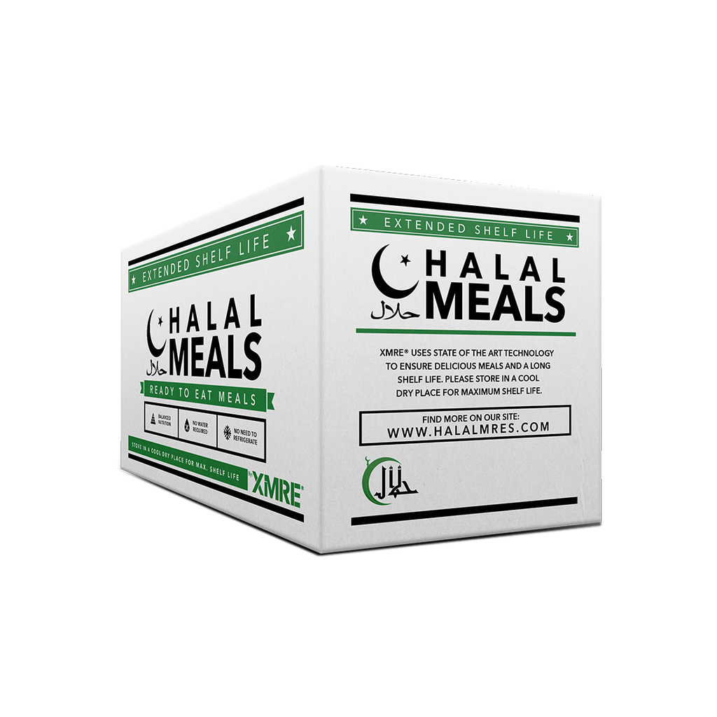 XMRE, XMRE MRE Meal Ready to Eat HALAL 1000 - CASE OF 12 FRH, [product_sku], MySurvivalPrep - MySurvivalPrep