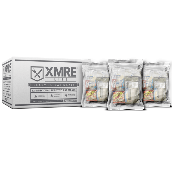 XMRE, XMRE MRE Meal Ready to Eat LITE MRE - CASE OF 12 FRH with heater, [product_sku], MySurvivalPrep - MySurvivalPrep