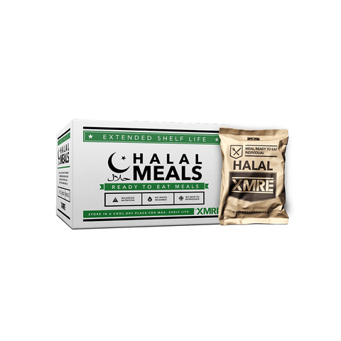 Image of XMRE, XMRE MRE Meal Ready to Eat HALAL 1000 - CASE OF 12 FRH, [product_sku], MySurvivalPrep - MySurvivalPrep