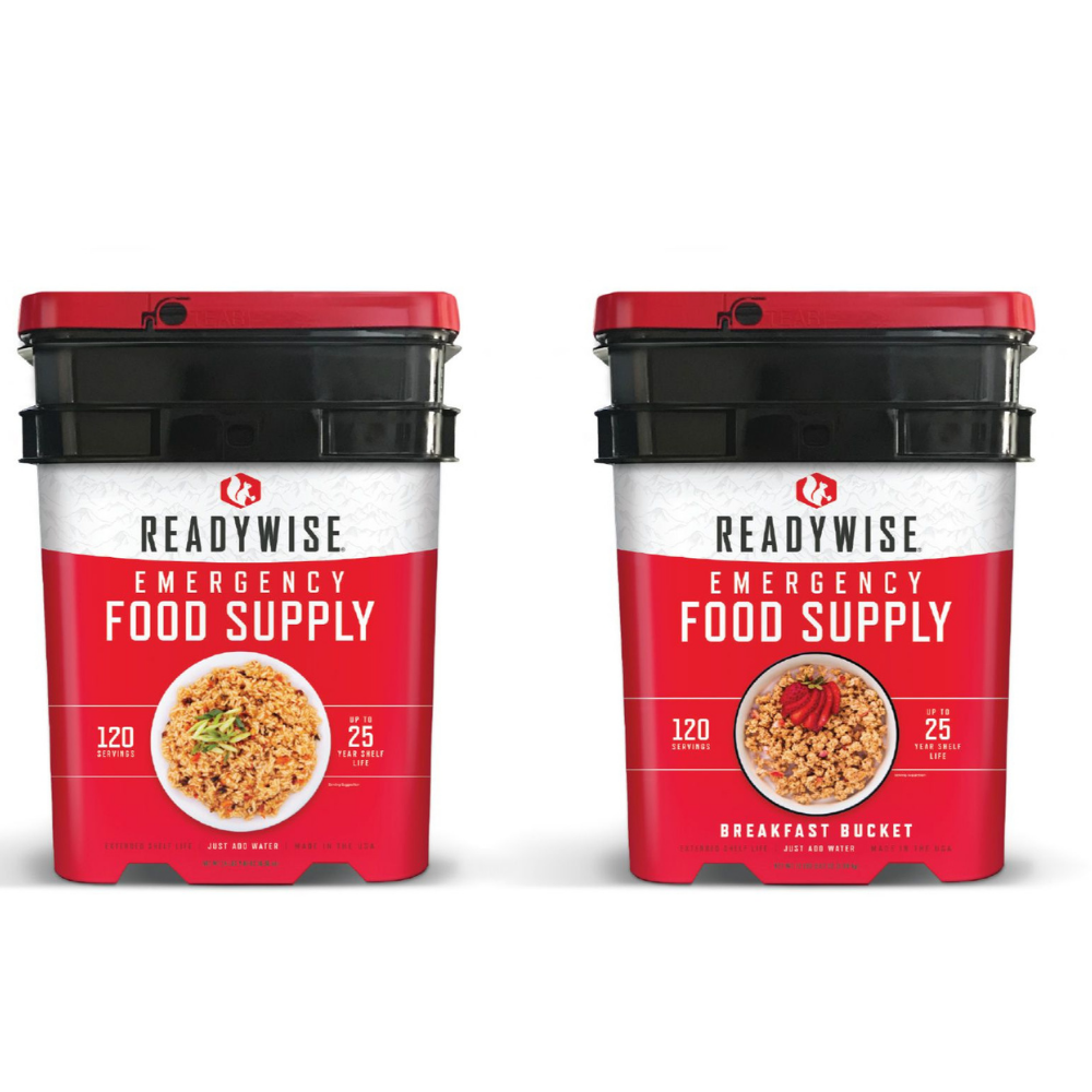 Ready Wise Food Company, Ready Wise  -  1 month Food Supply, 120 Servings Entree Bucket & 120 Servings Breakfast Bucket (40-40240), [product_sku], MySurvivalPrep - MySurvivalPrep