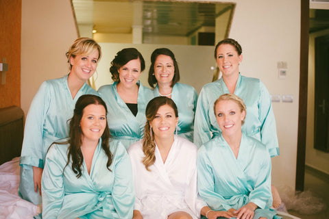 Aqua Bridesmaid Robes