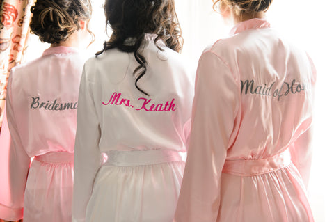 Custom Embroidered Bride Robe