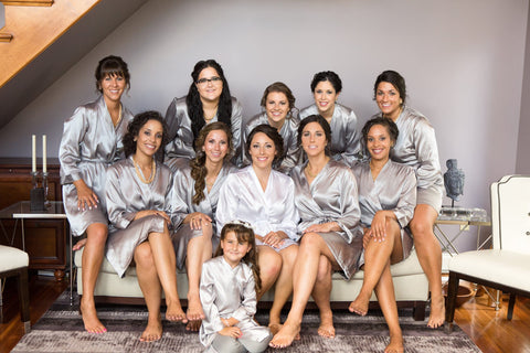 Platinum Bridal Party Robes