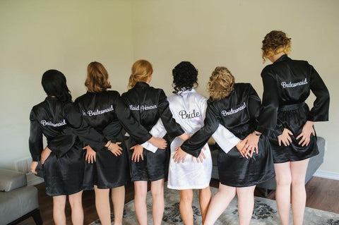 Embroidered Bridal Party Title Robes