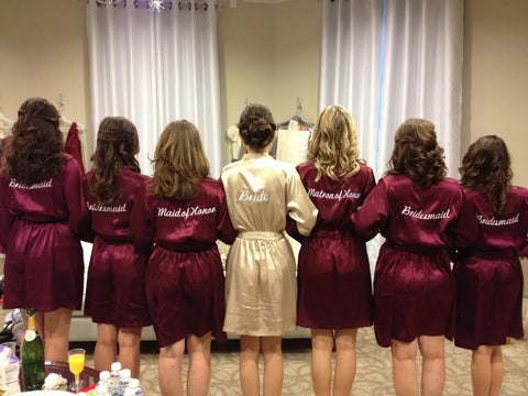 Burgundy Bridesmaid Robes