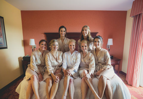 Champagne Bridal Party Satin Robes