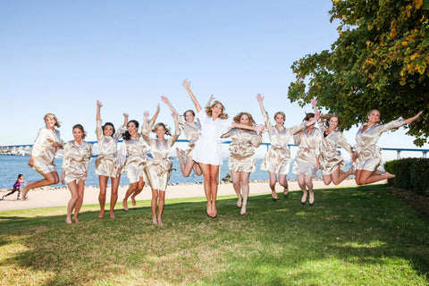 Champagne Jumping Bridesmaid Party Robes
