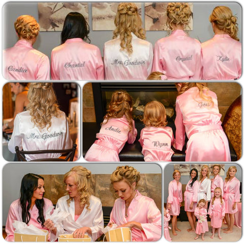 Child Flower Girl Bridesmaid Robes