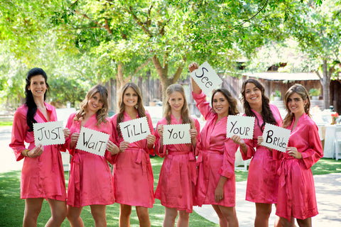 Coral Robes with cute sign