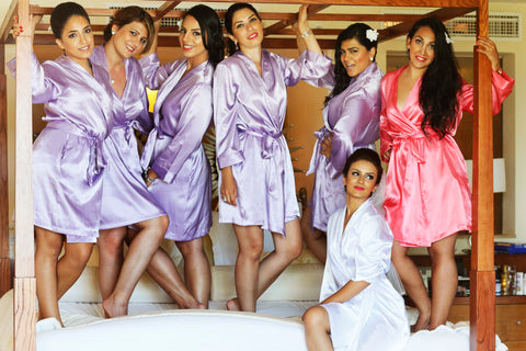 Purple Fuschia Bridesmaid Robes