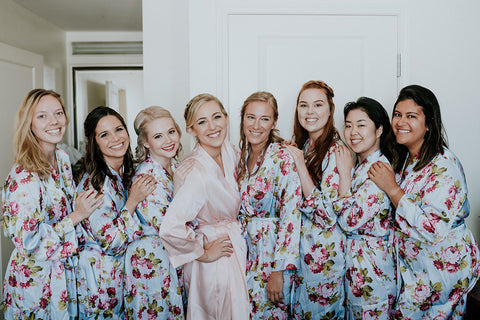Beautiful Floral Bridesmaid Robes