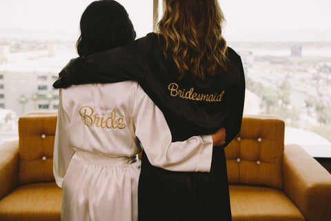 Bride and Bridesmaid Robe Couple