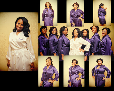 Purple Bridesmaid Robes