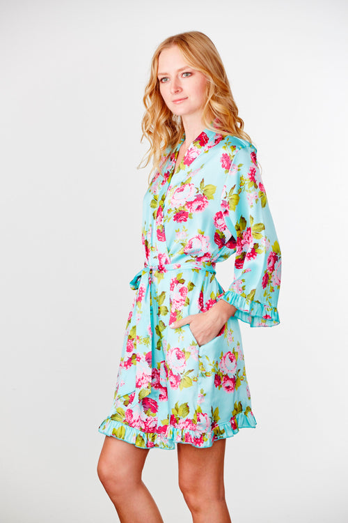 Plain Ruffle Bridesmaid Robe