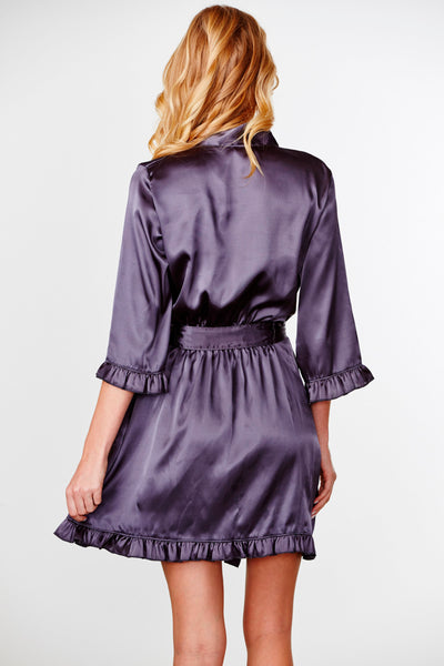 Embroidered Ruffle Bridesmaid Robe