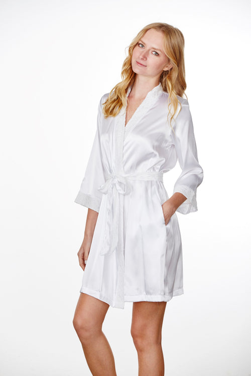 Bridesmaid Robes   Bridal Robes - Embroidered Bridesmaids Robes ... 13a25a97f