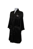 Embroidered Floral Satin Robe