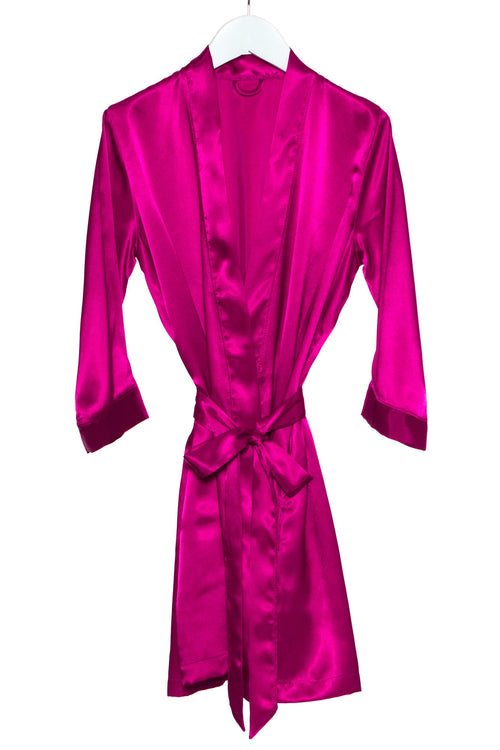 Satin robe with hood cheap