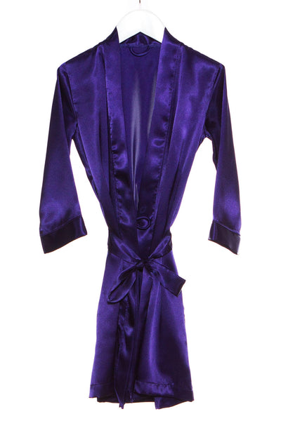 Embroidered Child Satin Robe